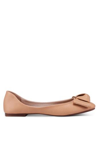 Bata 米褐色 蝴蝶結平底鞋 9D581SH0C98A5BGS_1