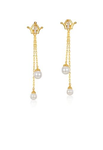 SUNSET 金色 Premium 9K Plate Gold  Pearl Earring 99D84ACDDEC98DGS_1