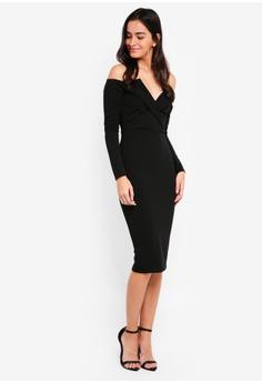 7c032008d9b0 50% OFF MISSGUIDED Fold Over Bardot Midi Dress RM 159.00 NOW RM 79.90 Sizes  6