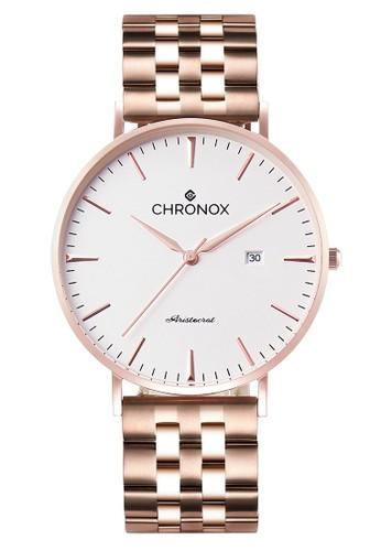 CHRONOX gold Chronox CX1002/B3 - Jam Tangan Wanita Casual - Tali Stainless Steel Gold - Putih Rose Gold 73B60AC8E75513GS_1