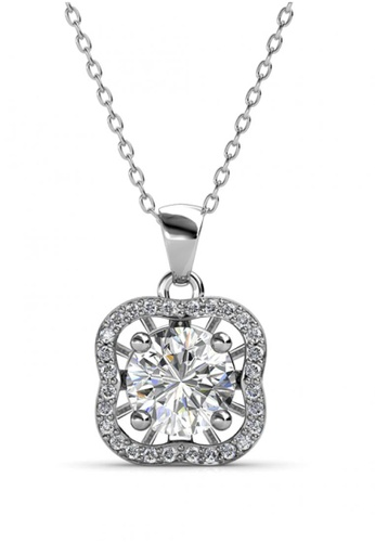 Her Jewellery silver Her Jewellery Royal Clover Pendant with Necklace Chain with 18K Gold Plated 77543ACC10EF9AGS_1