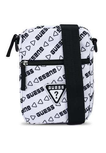 Guess white Repeat Crossbody Bag 65ACDACB89833EGS_1