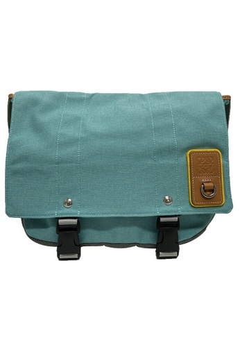 LOEWE blue Loewe Eye/LOEWE/Nature Messenger Bag in Turquoise 2B7A7AC8F25EC5GS_1