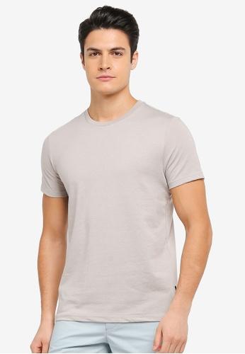 Burton Menswear London 米褐色 休閒圓領T恤 BU964AA0T1H8MY_1