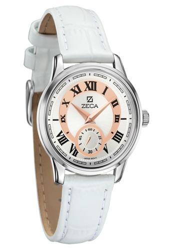 ZECA pink and gold Zeca Watches Couple Ladies Fashion - 302L White ZE260AC96SKLSG_1