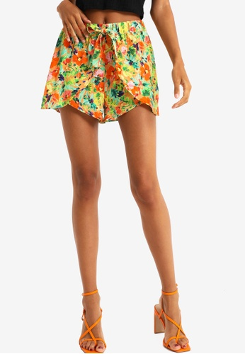 PIMKIE pink and multi Floral Shorts E647DAAA07E6ADGS_1
