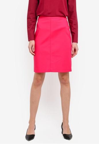 Mango pink Pencil Skirt MA193AA0T0YIMY_1