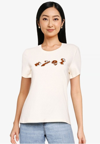 Urban Revivo beige Applique T-Shirt DC3FFAA7AD79EEGS_1
