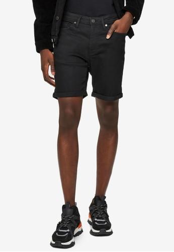 Selected Homme black Super Stretch Denim Shorts 45A21AA5391E44GS_1