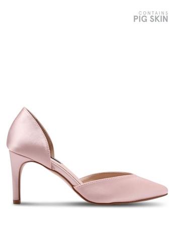 LOST INK pink Paola Kitten D'Orsay Heels D1EF3SH57AB7CEGS_1