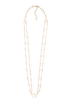2 Layer w/ Long Pearl Necklace