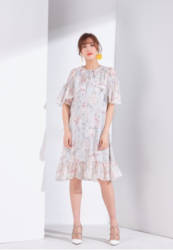 Zafiti multi Chiffon Floral Dress F78FBAAC59D7F8GS_1