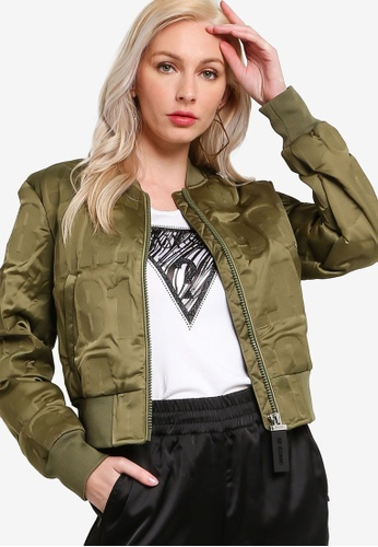 Guess green Elly Bomber Jacket 36910AAE9FD57BGS_1