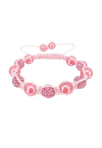 Her Jewellery pink Swarovski® Crystals -Shamballa Pearl Bracelet (Pink) HE581AC0RALQMY_1