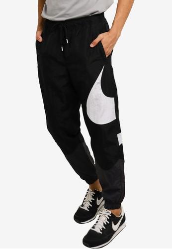 Nike black Sportswear Swoosh Men's Woven Lined Trousers 767CBAA7B517E3GS_1