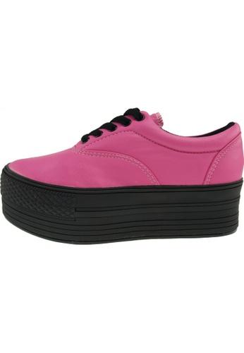 Maxstar 粉紅色 新款韩国鞋C50-5H-TC時尚皮革布混合女粉紅色 US Women Size MA345SH05GTATW_1