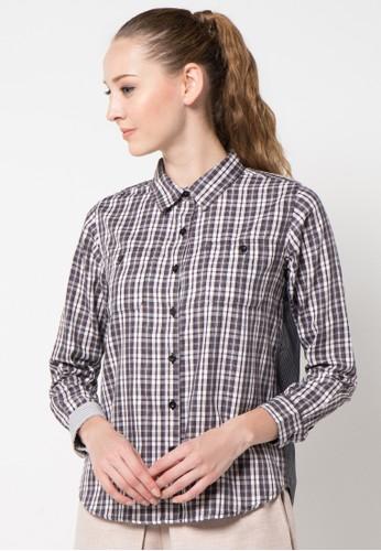 sophistix grey Kari Shirt In Grey Black SO829AA13ARUID_1