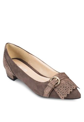 雕花zalora taiwan 時尚購物網尖頭平底鞋, 女鞋, 厚底高跟鞋