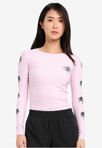 Billabong pink Big Wave Long Sleeve Rashguard BI783US0SHZFMY_1