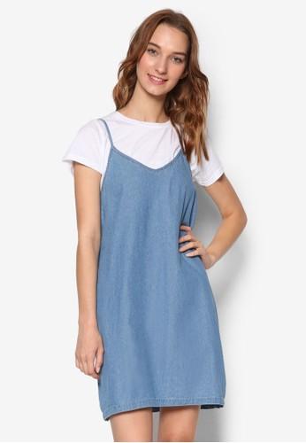 V 領細肩帶連身裙, 服飾,esprit outlet hong kong 洋裝