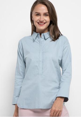 Solene green Harper Cotton Half Buttoned Shirt 0CD92AA8382ADAGS_1
