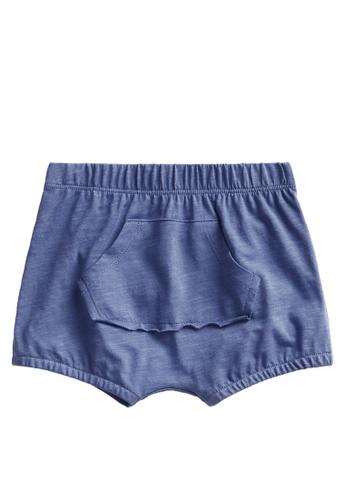 MANGO BABY blue Sustainable Cotton Knitted Shorts 1642FKAA2B871FGS_1