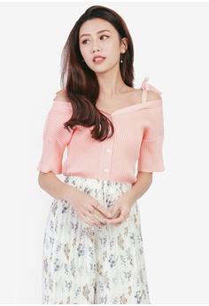 f47ecfa1d6e Yoco pink Ribbon Detail Knit Top 2D820AA2BA0EEEGS 1