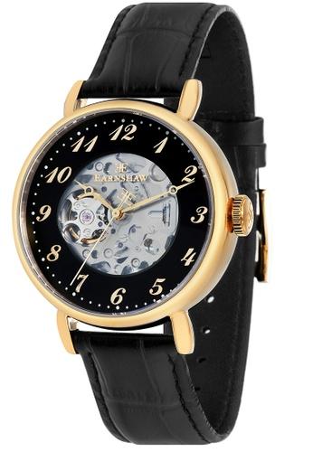 Thomas Earnshaw black Thomas Earnshaw Men's Genuine Leather Strap Watch - ES-8810-04 275E7ACDA45296GS_1
