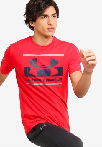 Under Armour red Blocked Sportstyle Logo T-Shirt 642DFAA7F6C10FGS_1