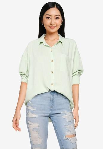 Hollister green Shirting Tunic 160E8AA27664C6GS_1