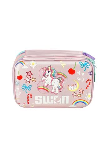 Swan pink Swan 3 Layer Pencil Case Multifunction Storage Organizer - Unicorn 33EC3KC7663C2BGS_1