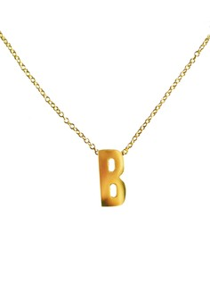 B Stainless Letter Necklace