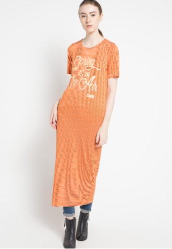 TRISET orange Midi Dresses 033 TR969AA42NHLID_1