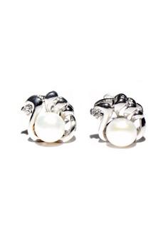 Flower Freshwater pearl earrings 1