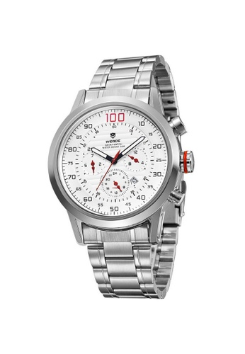 Weide white Weide WH3311 Men's Military Calendar Display Quartz Sports Watch (White) WE079AC41TJUMY_1