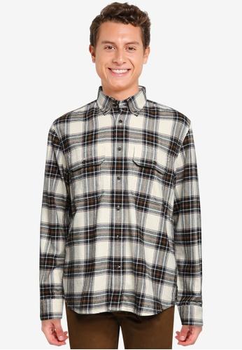 Banana Republic black Untucked Standard-Fit Flannel Shirt 59A6EAA81978D8GS_1