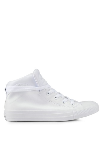 Converse white Chuck Taylor All Star Brookline Mid Sneakers CO302SH0SXUZMY_1