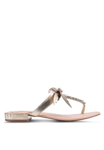 Miss KG 金色 Palma Flat Sandals 59821SHF306D87GS_1