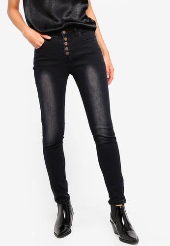 ZALORA black Button Fly Skinny Jeans 035B1AA05CA45FGS_1