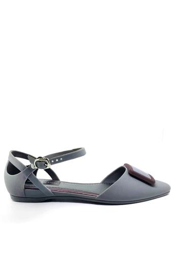 Twenty Eight Shoes 灰色 尖頭中空果凍膠平底鞋 513-1 51683SH9219A2EGS_1