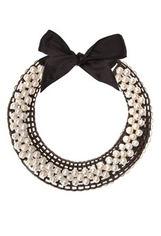 Marie Necklace With Full Beaded Pearls