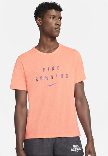 Nike orange Men's Dri-FIT Miler Run Division Top 630D4AAF0E354FGS_1