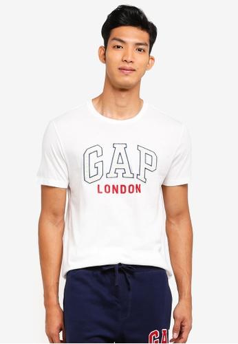GAP white London City T-Shirt AF200AAE3F9EE0GS_1