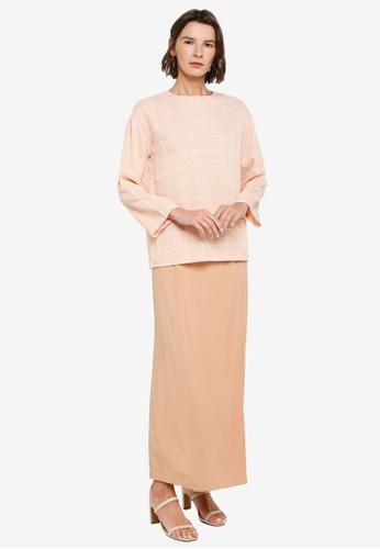 ZALIA BASICS pink Top with Pencil Skirt Set E4C82AA8FAC123GS_1