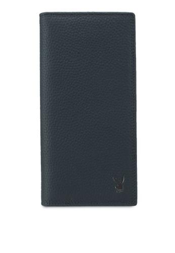 Playboy blue Playboy Genuine Leather Bi-Fold Long Wallet 61AF8AC274EB67GS_1