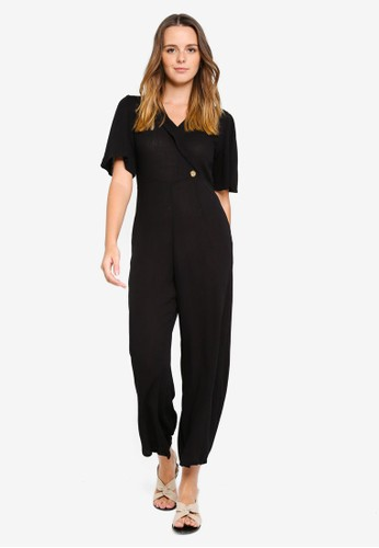 Cotton On black Woven Mali Jumpsuit 13D79AAC8DDCD5GS_1