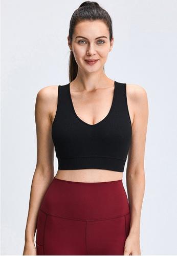 Trendyshop black Quick-Drying Yoga Fitness Sports Bras 4FC72USC5C420AGS_1