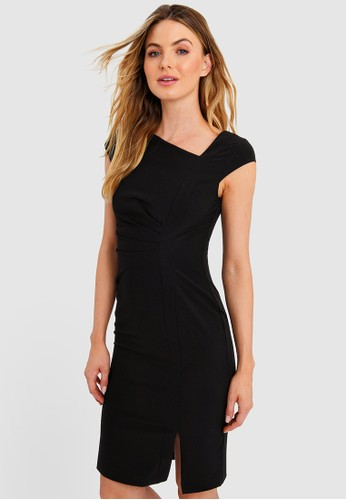 FORCAST black FORCAST Kenzie Asymmetric Dress AD086AABF279C6GS_1