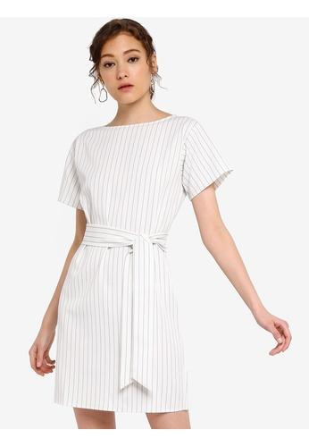 Basic Self Tie Shift Dress