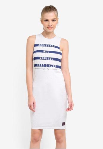 Superdry white Mariner Stripe Mini Dress SU137AA0S4GUMY_1